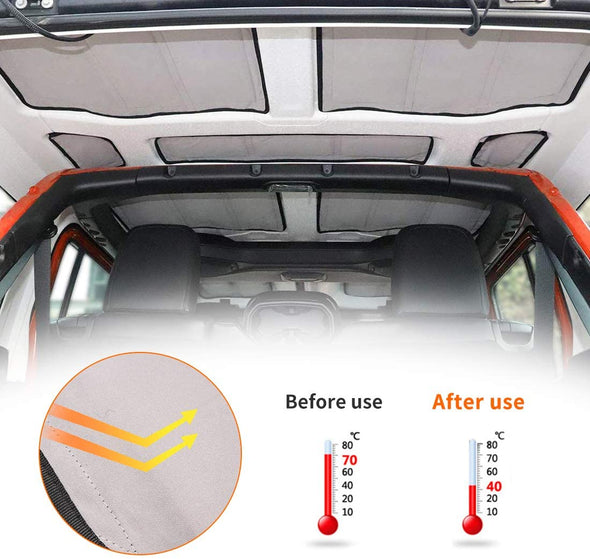 Headliner Hardtop Heat Insulation for Jeep JL 4-Door