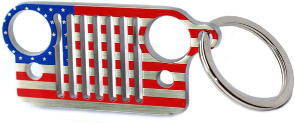 Font Grille Keychain (NATIONAL FLAG)