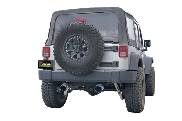 Stainless Steel Exhaust System for Jeep Wrangler Jk 07-17