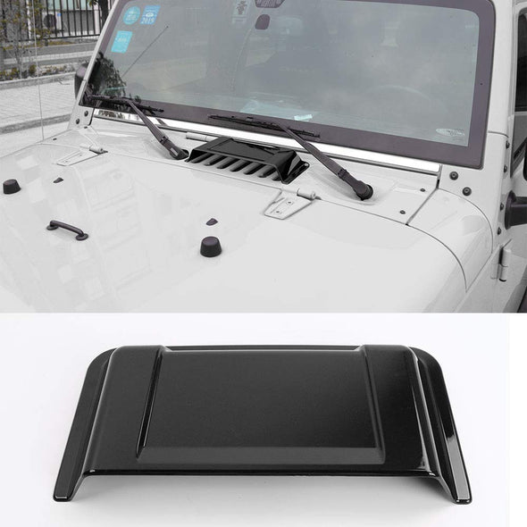 Black Cowl Vent Hood Scoop Fit for Jeep Wrangler JK TJ 1998-2018
