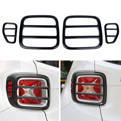 Black Metal Taillight Rear Lamp Protector Cover Guard