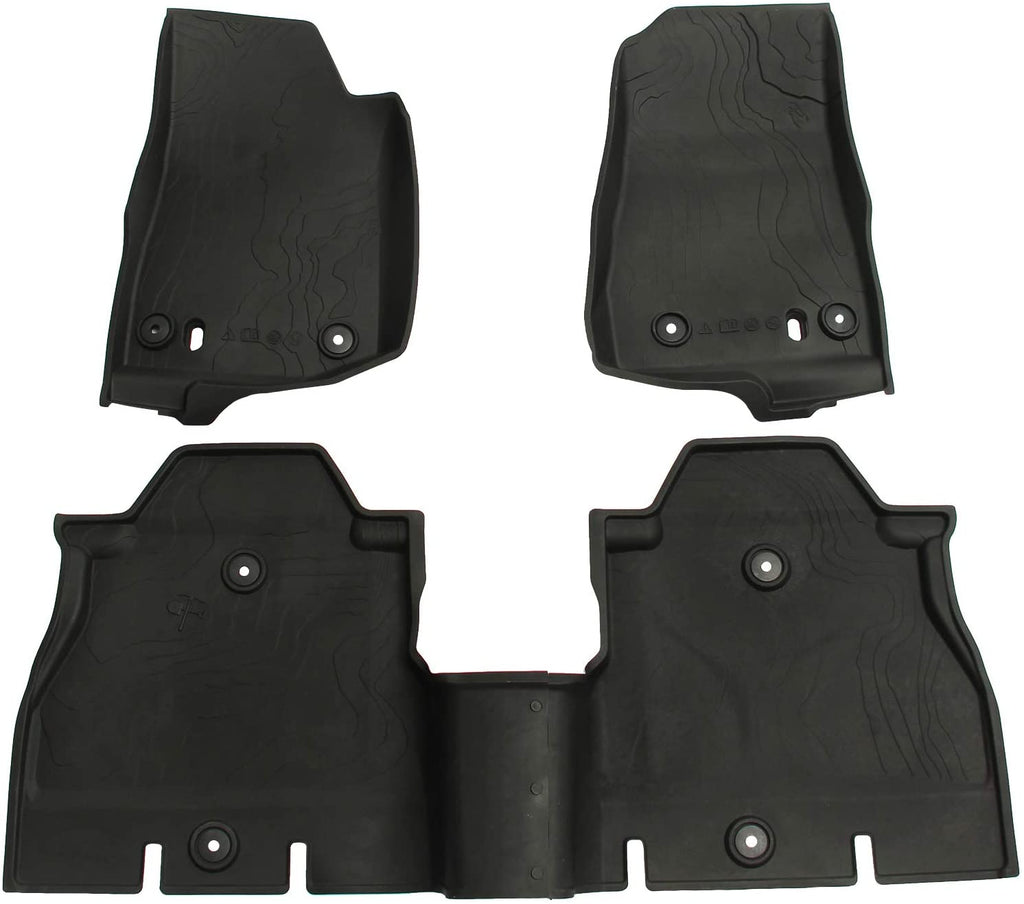 All Weather Slush Floor Mats for Jeep JL