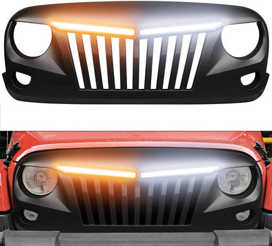 Grille with Turning Signal Light for Jeep Wrangler