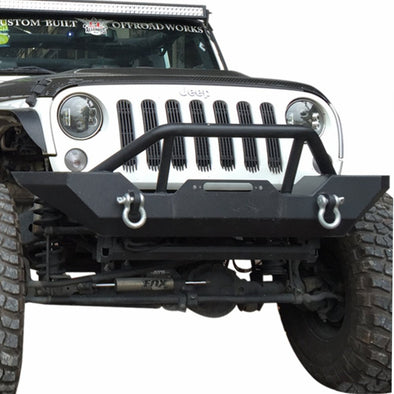 Black Textured Front Bumper for 2007-2018 Jeep Wrangler