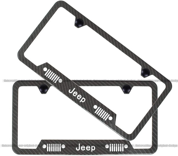 2-Pieces High-Grade License Plate Frame for Jeep