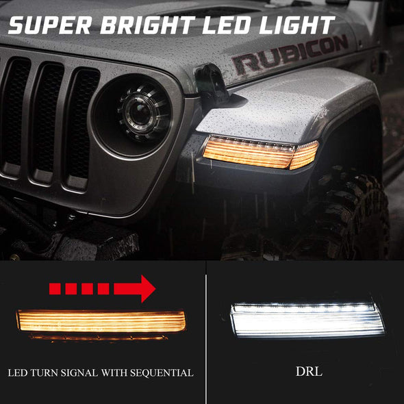 LED Daytime Running Lights with Sequential Turn Signal