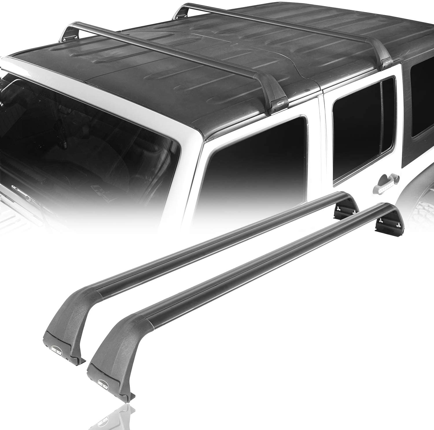 Roof Rack 2 Crossbars For Jeep Wrangler 2007 2020 Jk Jl Offgrid Store