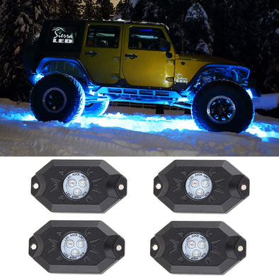RGB LED Rock Lights - 4 Pod Lights
