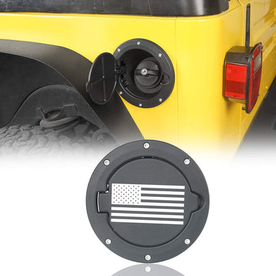 US Flag Gas Cap for Jeep Wrangler TJ 1997-2006