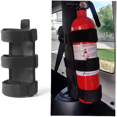 Adjustable Roll Bar Fire Extinguisher Mount Holder 3 lb for Jeep CJ YJ LJ TJ JK JKU JL JLU