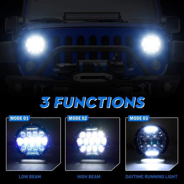 "7"" LED Headlight for Jeep Wrangler CJ/TJ/LJ/JK"