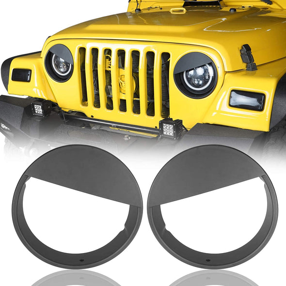 Angry Bird Headlight Covers for 1997-2006 Jeep Wrangler TJ