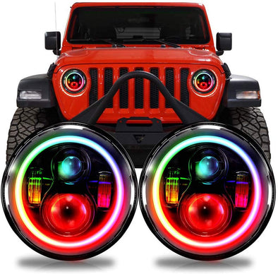 LED RGB Color Changing Headlights Jeep JL 2018+