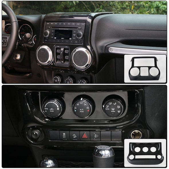Center Console Cover & Air Conditioning Switch Cover (BLACK) with details of cover