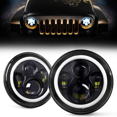 LED Headlights for Jeep Wrangler JK TJ 1997-2018