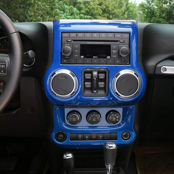 Center Console Cover & Air Conditioning Switch Cover (BLUE)