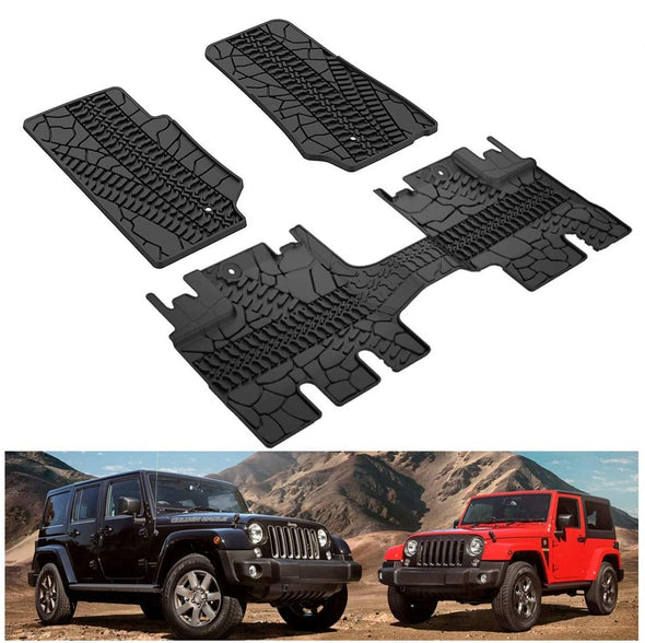 Floor Mats, All Weather Protection Slush Mat Black