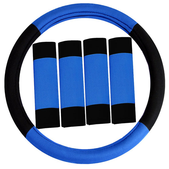 Steering Wheel Cover & Belt Pads Combo Set