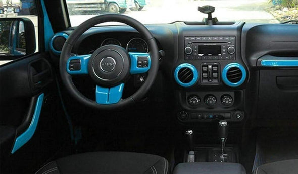 Interior Trim Kit for Jeep Wrangler JK (INDIAN TURQUOISE)