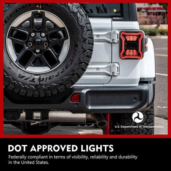 LED Tail Lights w/ Brake Reverse Light for Jeep JL