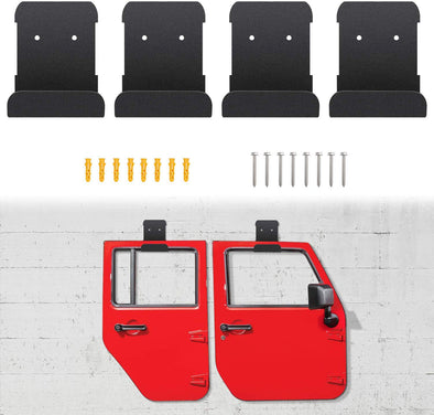 Wall-Mounted Door Storage Rack Bracket for All Jeep