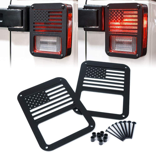 Tail Light Covers Guards Protectors (USA FLAG)