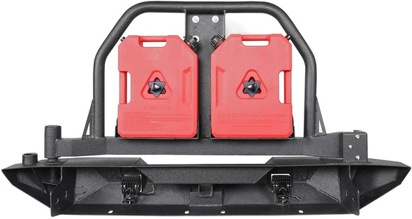 Rear Bumper & Tire Carrier w/Drum Holder, Receiver Hitches for Jeep Wrangler JK