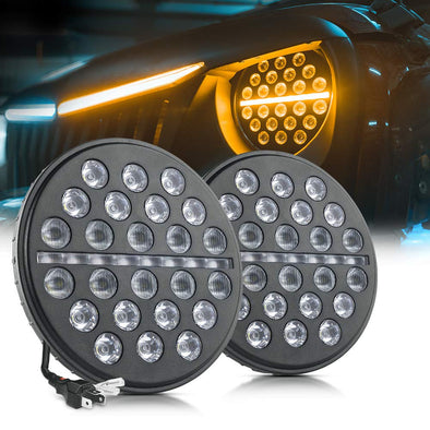 7 Inch LED Headlights with Turn Signal