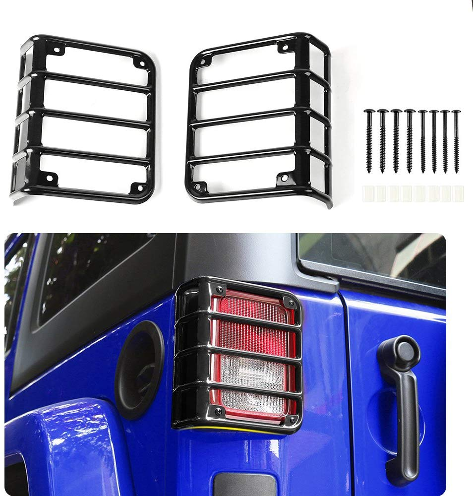 Set of 2 JeepTails Avengers Tail Lamp Covers Compatible with Jeep JK Wrangler Black