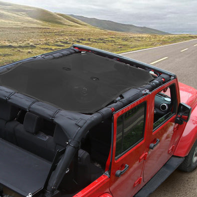 Jeep Wrangler JK 2007-2017 Sunshade Mesh UV Protection 4 Door