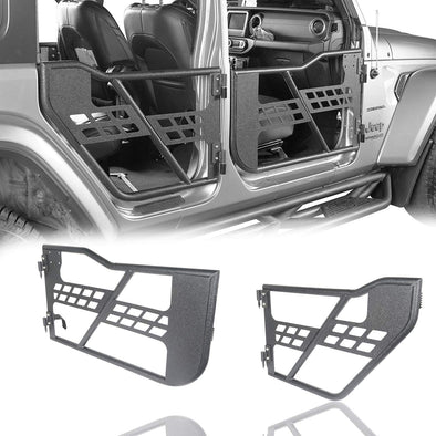 4 Doors Tube Half Door Guards for Jeep 2018 up JL, JT