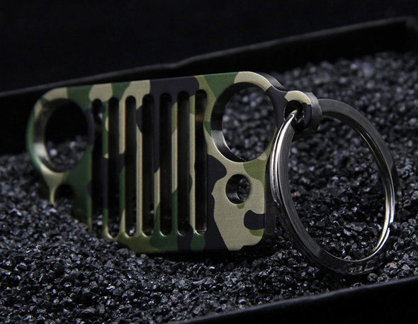 Font Grille Keychain (CAMO)