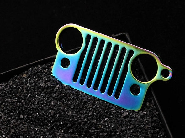 Font Grille Keychain (MULTICOLOR)