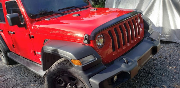 Dark Smoke Hood Shield for 2018 Jeep JL & JT