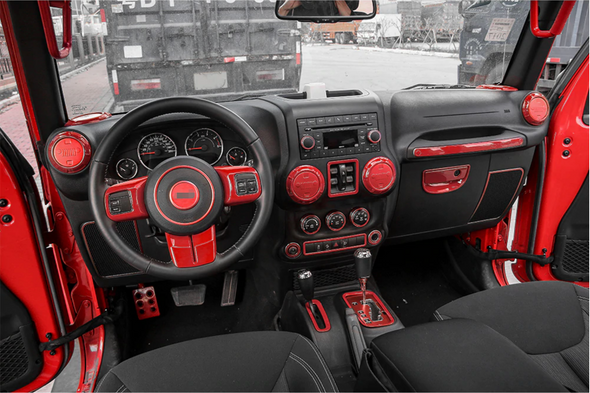 Interior Trim Kit for Jeep Wrangler JK (RED)