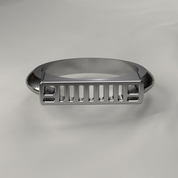 XJ Jeep grill and Tread Ring