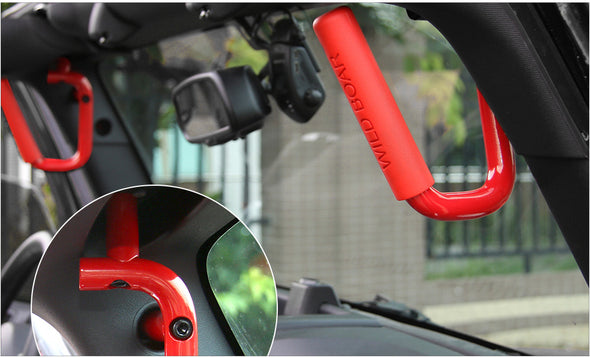 Jeep wrangler JK 2007-2018 Rear Grab Handle on Jeep (RED FRONT)