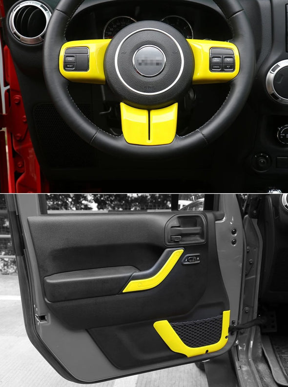 Interior Trim Kit for Jeep Wrangler JK (YELLOW)