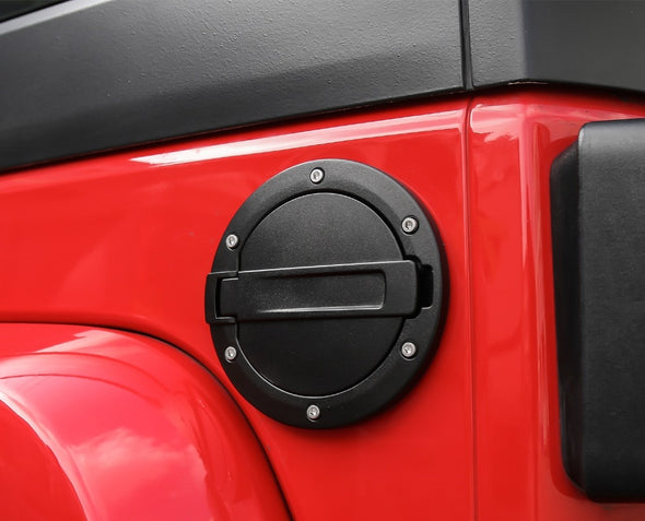 Jeep Wrangler JK 2007-2018 Gas Cap (DECORATION) on red Jeep Wrangler