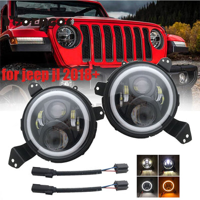 Jeep Wrangler JL 2018-2019 9 Inch LED Headlights