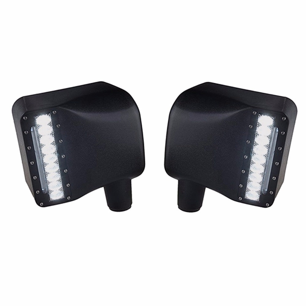 For Jeep JK Sidelight Rearview Side Mirror Housing Yellow Turn Signal Lights