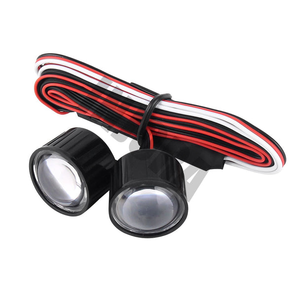 22mm Multifunction RC Car LED Headlight for 1:10 RC Jeep and Trucks