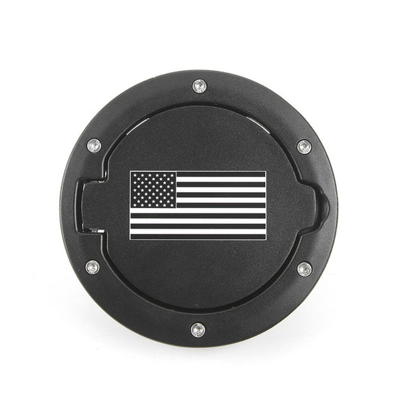 Jeep Wrangler JK 2007-2018 Gas Cap (USA FLAG B/W)