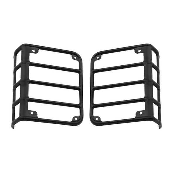 Jeep Tail Light cover Black Rear Euro Tail Light Guard Protector for 2007-2017 Jeep Wrangler JK & Unlimited