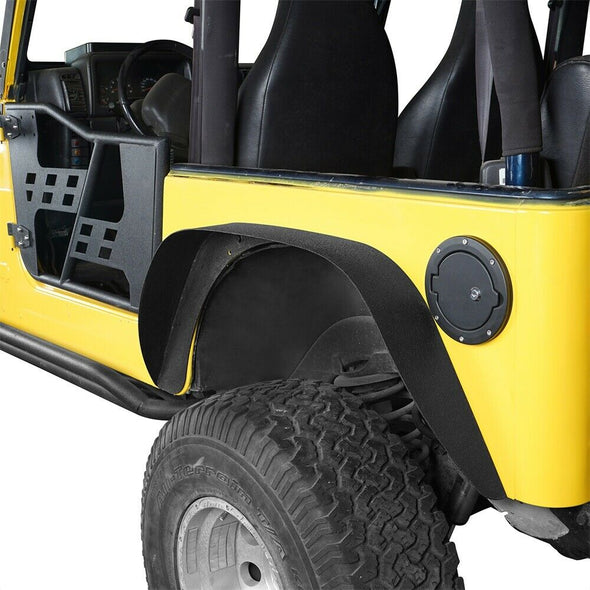 Steel Flat Front & Rear Fender Flares for 97-06 TJ