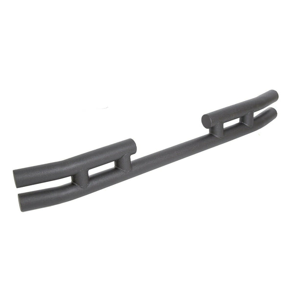Rear Double Tube Bumper Textured Black Fits 97-06 Jeep TJ Wrangler