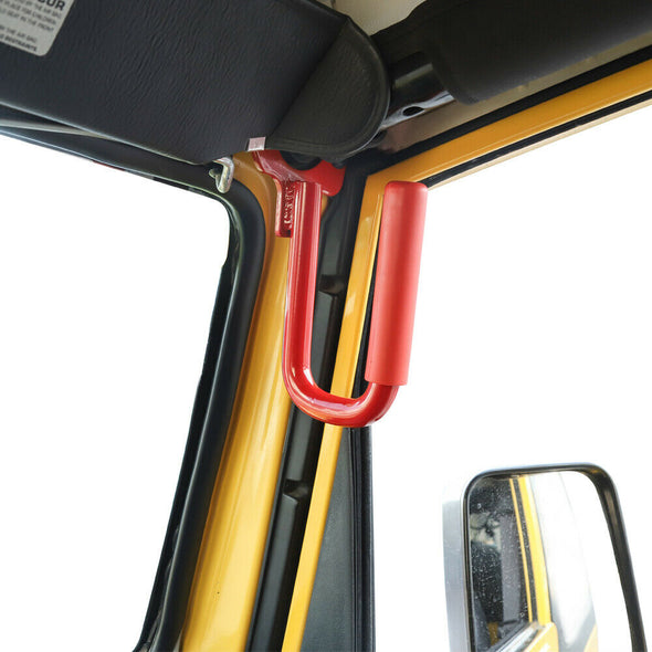 Steel Front Grab Handles for 1997-2006 Jeep Wrangler TJ