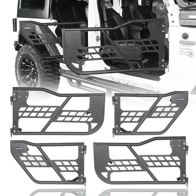 4-Door Set Front & Rear Tubular Doors for Jeep Wrangler JK