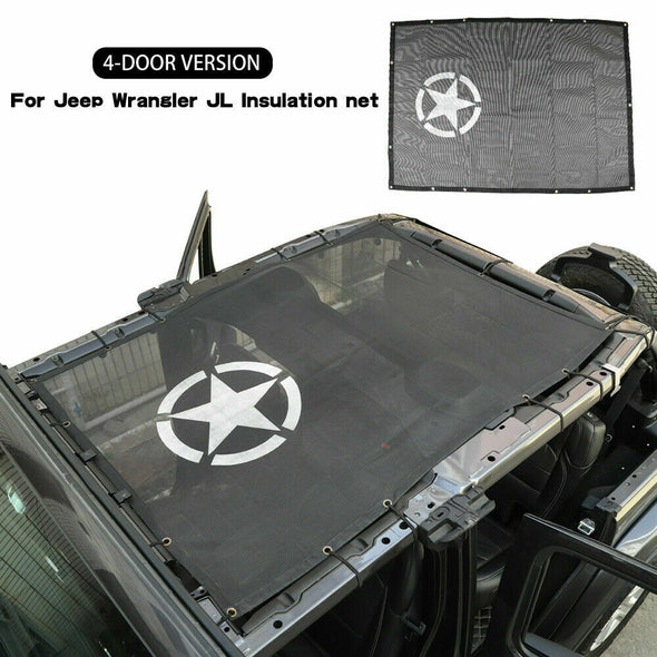 Sunshade Mesh UV Protection 4 Door for Jeep JL & JT