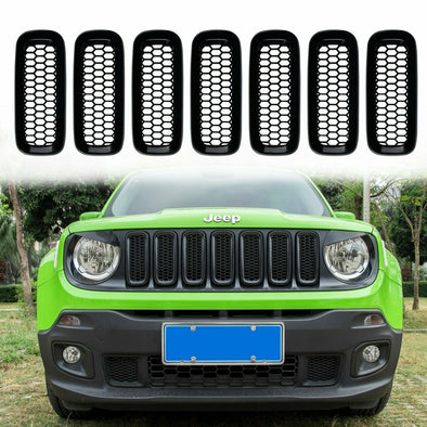 Front Grille Inserts Mesh Black for Jeep Renegade 2015 - 2018